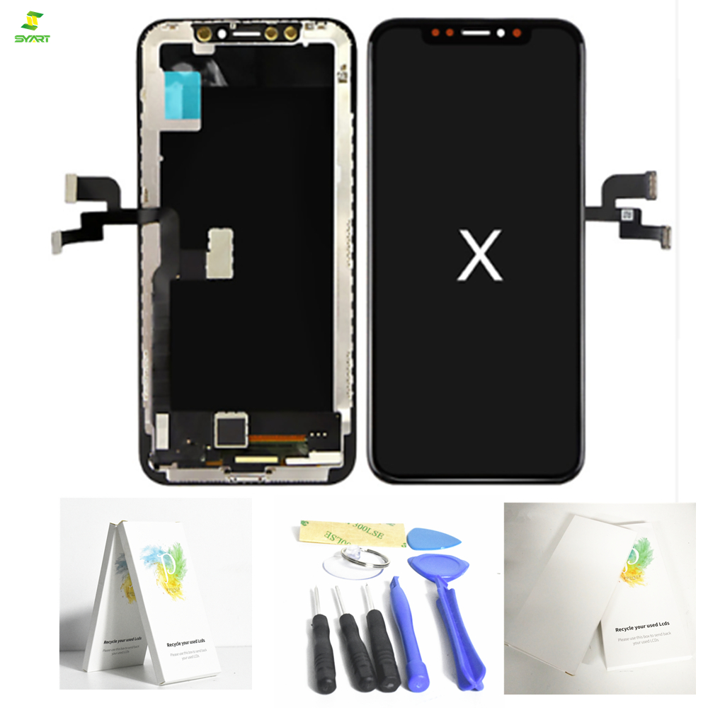 IP Ten 5.8 Pantalla Komplett Einheit Lcd For iPhone X 10 Lcd Display Screen Touch Digitizer Complete Assembly AAA+ Black Color