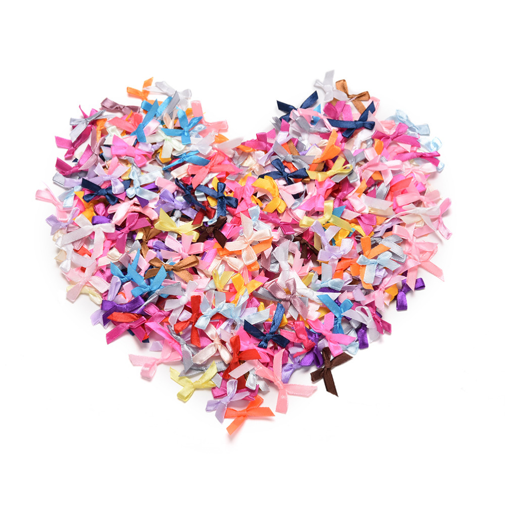 Stick On Satin Ribbon Bows Self Adhesive Wedding Card Making Crafts 5cm x 4cm