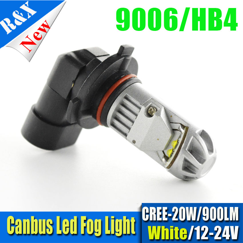 1piece High Power 20W 9006 HB4 Canbus Led Chips Car Led 12v 24v Auto Lamp Fog Light Driving Lamp Bulb white 900lm free shipping 2x80w h7 canbus error free cree xbd chips super bright high power led car fog light auto fog lamp bulb