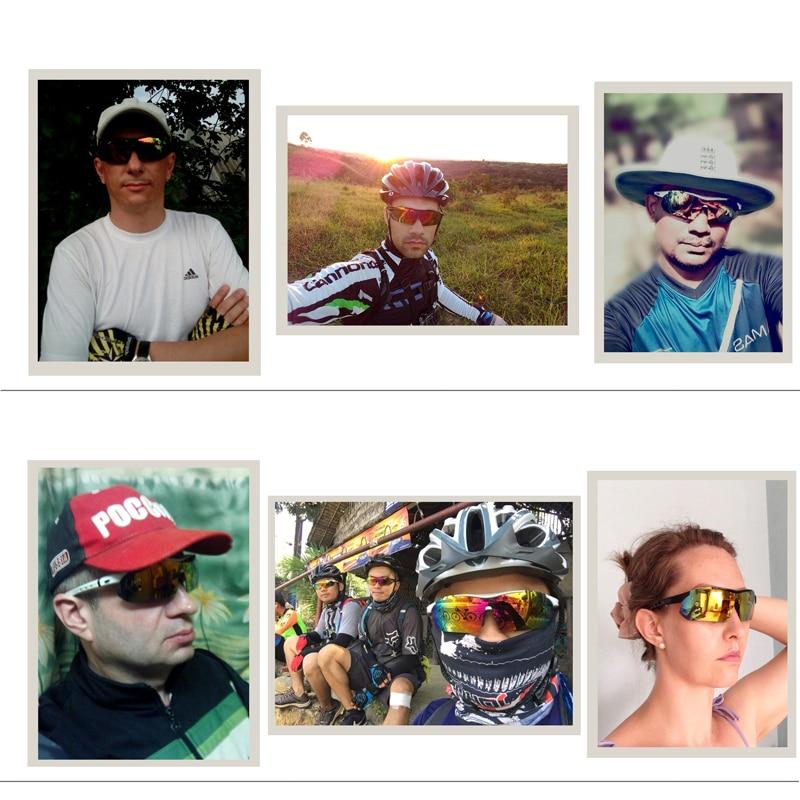 Купить с кэшбэком COMAXSUN Professional Polarized Cycling Glasses Bike Goggles Outdoor Sports Bicycle Sunglasses UV 400 With 5 Lens TR90 2 Style