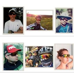 Image 5 - COMAXSUN professionnel lunettes de cyclisme polarisées lunettes de vélo Sports de plein air vélo lunettes de soleil UV 400 avec 5 lentilles TR90 2 Style
