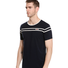 Summer Striped Design Slim Fit T-Shirt Men