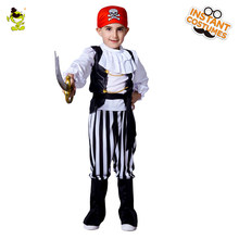 98595dc91bcfb0 Hot sales Boys Cool Pirate Costumes with Red Cap Kids Halloween Carnival  Party Handsome Viking&Buccaneer Role Play Clothing
