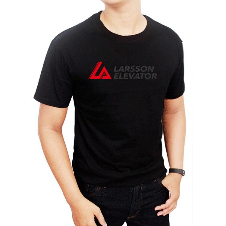 la larson elevator T-Shirt Mens Clothing size reguler Shirts Summer Short Sleeve Novelty