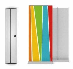 Алюминиевый свернутый баннер выдвижной стенд 85x200 см с крышкой шириной 24 см для выставки 6 шт. высокое качество