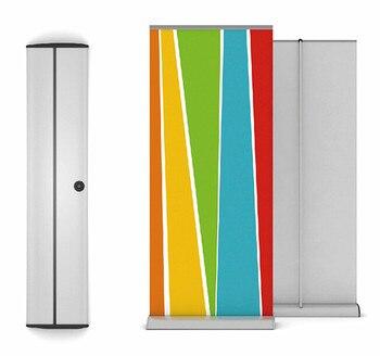 Aluminium retrousser bannière présentoir rétractable 85x200 cm avec capuchon large 24 cm pour salon commercial exposition 6 pièces haute qualité