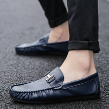 2018 new Summer Breathable Soft Leather Casual Shoes Flats Loafers Men Shoes Casual Luxury Fashion Slip On Casual Shoes  5 цена