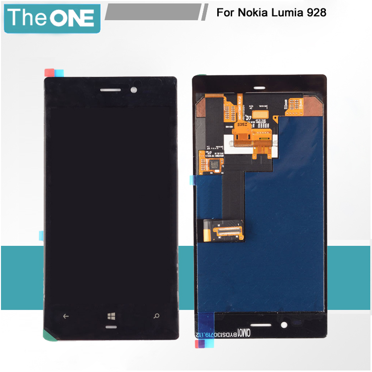ФОТО 5PCS 100% Test For Nokia Lumia 928 LCD Display With Touch Screen Digitizer Frame Assembly Free Shipping