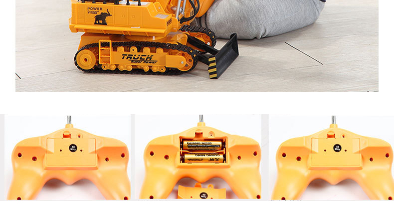 Large 11 Channels RC Excavator RC Car Remote Control Toys Car Electric Excavator Charging Electric Vehicle Toys For Kids Boys 20