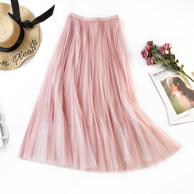 ZYFPGS Summer 2019 Floral  skirt Pleated knit Fashion Female Life Skirt Tassel Slim New Arrivals Leisure wind high quality