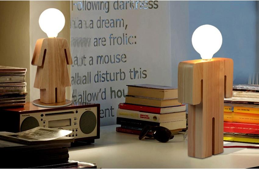 Moderne conception garçon et fille bureau base en bois léger e27 110