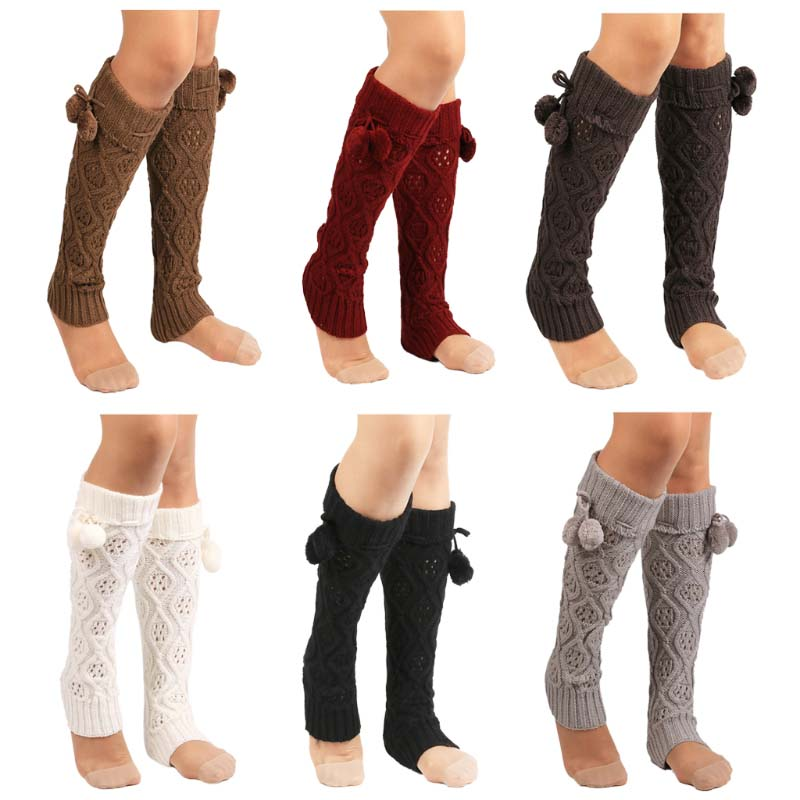 Calentadores de pierna de punto para mujer, calentadores de botas de ...