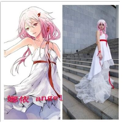 guilty crown Yuzuriha Inori Inory cosplay costume dress suit anime halloween costumes white lolita dress on Aliexpress.com | Alibaba Group & guilty crown Yuzuriha Inori Inory cosplay costume dress suit anime ...