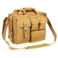 Pro Multifunction Mens Military Nylon Shoulder Messenger Bag Briefcase Large Enough for 14 Laptop
