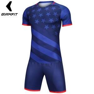 a7fb4a9b659 Short Sets Male Football Jerseys DIY Fitness Shirt High End France Home  Away Soccer