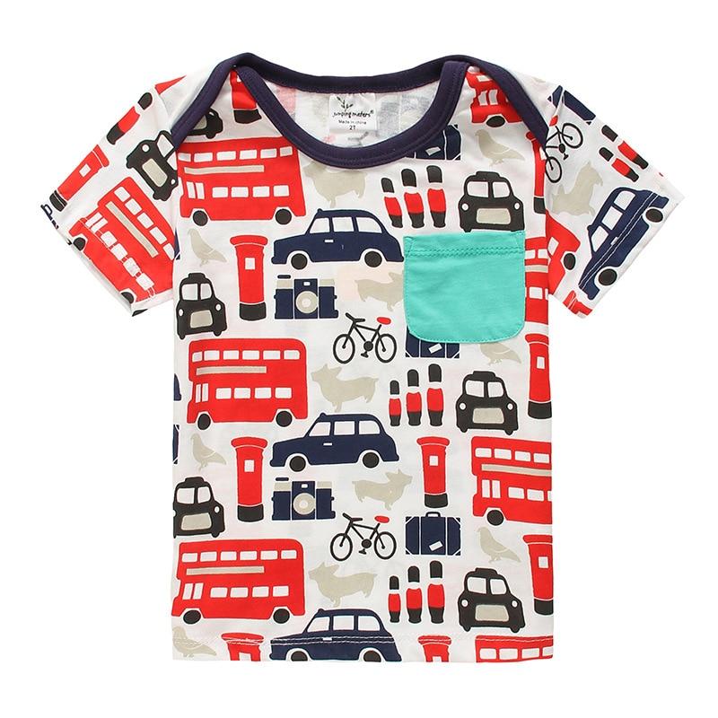 23532a2df24c 2017 Brand Boys T Shirt Cool Boys Train Car Tops Designer Toddler Baby Boys  Short Sleeve