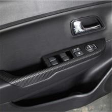 Автомобильные наклейки из углеродного волокна, дверная панель, стикер для подлокотника, автомобильные аксессуары для KIA Rio k2