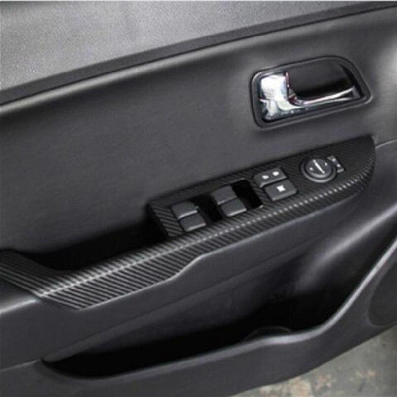 Car Carbon Fiber Car Stickers Door Panel Armrest Sticker,auto Accessories For KIA Rio K2