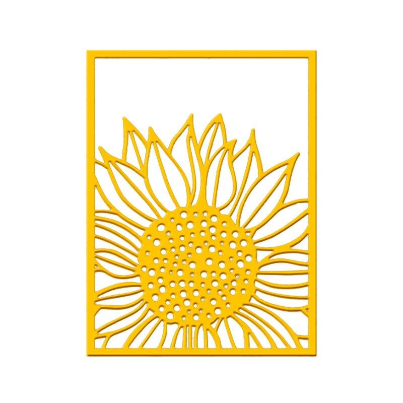 Eastshape Sunflower Background Dies Frame Metal Cutting for DIY Scrapbooking Album Stamp Paper Card Embossing Diecuts