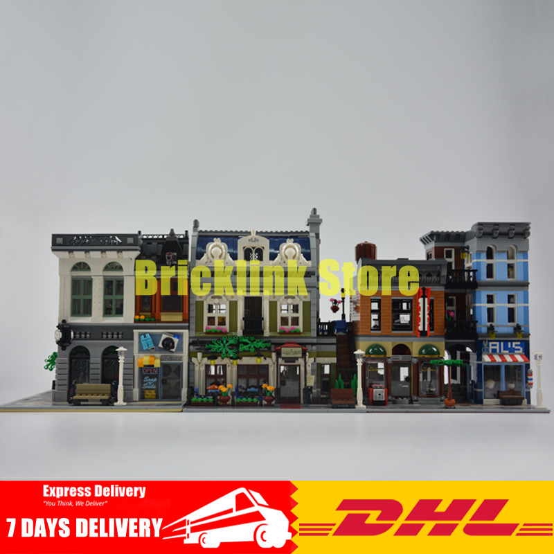 DHL Lepin City Street Series LEPIN 15001 Bank 15010 Parisian Restaurant 15011 Detectives Office Model Building Kit Blocks 10246