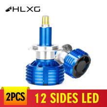 HLXG 12 SIDES LED H7 H1 Auto Headlight Bulbs H11 H8 H3 9005 HB3 9006 35W CSP Mini Car Lights Car Lamp 6000K LED Fog Lamp 12V(China)