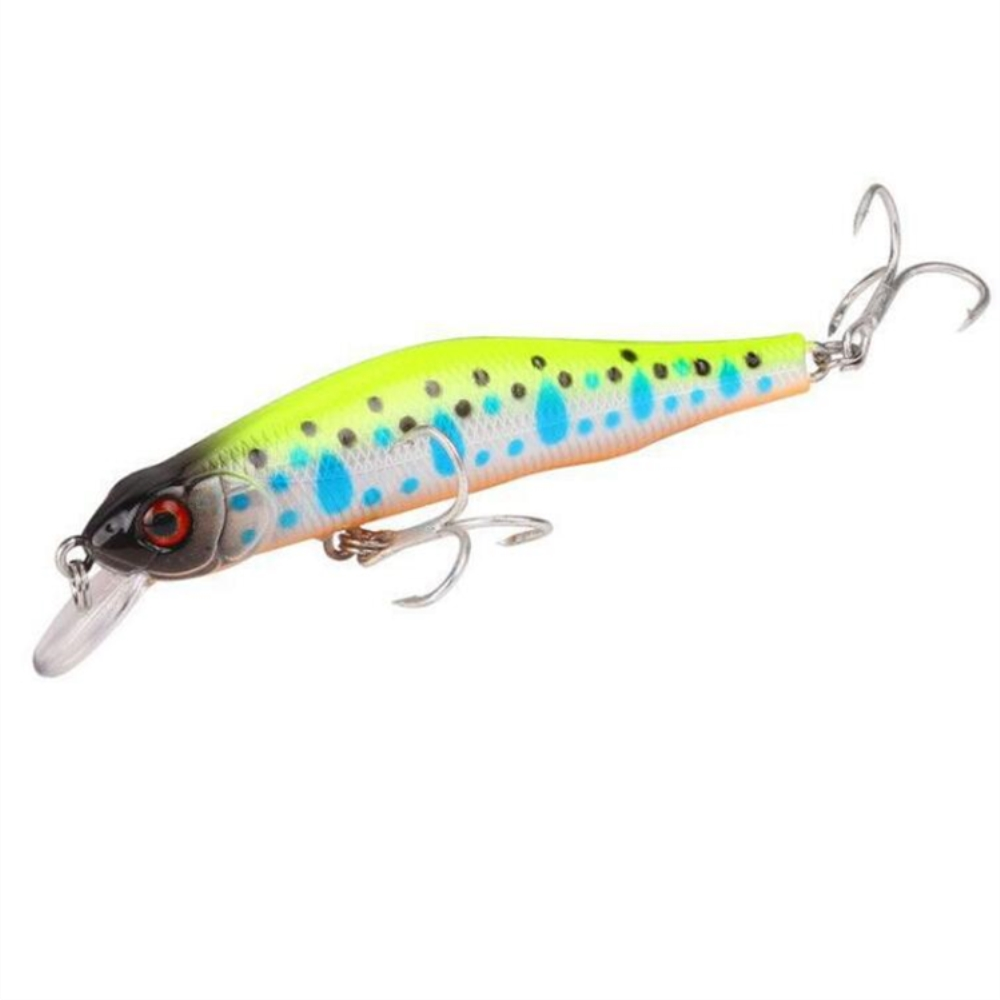 1pcs/lot 8cm 8.2g High Quality Minnow Fishing Lure 3D Eyes Crankbait Hard Bait Wobbler Fishing Tackle Everything For Fishing