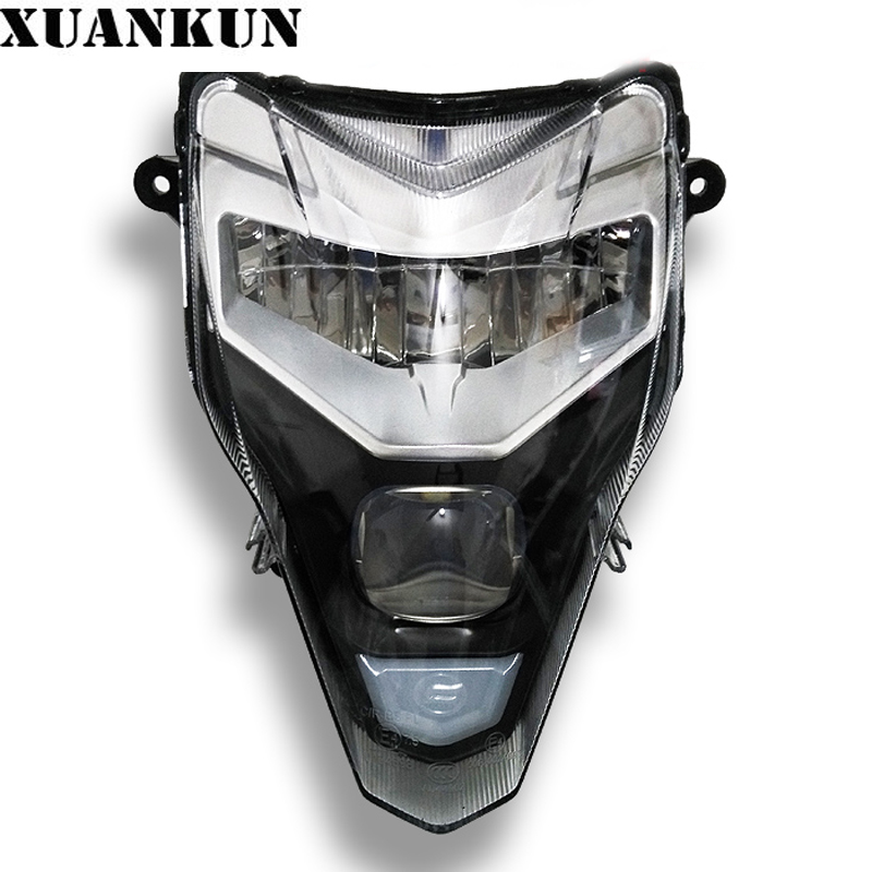 XUANKUN Motorcycle Accessories 2016 New 650NK Headlamp Assembly 400nk Modified Headlights Headlights CFMOTO xuankun monkey bike small monkey car motorcycle modified aluminum headlamp bracket lighthouse