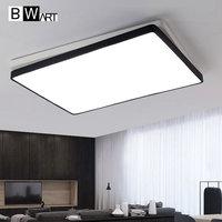 Black White Rectangle Modern LED Ceiling Light Creative Modern Led Ceiling Lamp Fixture For Living Room