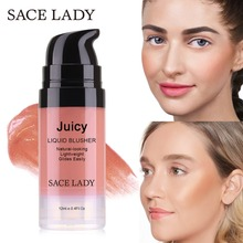 SACE LADY Liquid Blush Makeup 4 Colors Face Rouge Make Up Professional Natural Cheek Blusher Long Lasting Brand Cosmetic #SL262