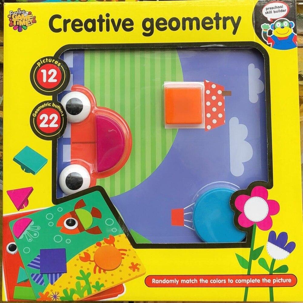 Juguetes educativos de los niños mosaico geometría creativa Kit Nail Art Kids 3D rompecabezas juguetes regalo para los niños del bebé Juguetes Divertidos