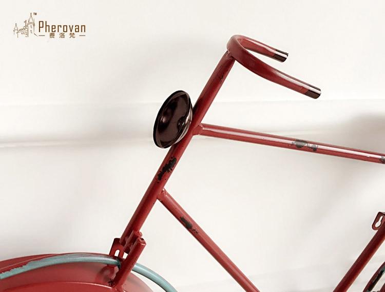 Pastorale stijl horloge ijzer fiets retro art deco wandklok klok