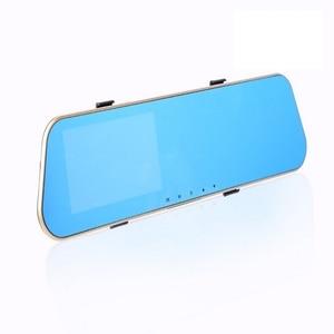 Image 2 - 4.3 inch 1080P Car DVR Camera Mirror with Rear View Camera Dual Lens Auto Driving Video Recorder G sensor Vehicle Dash Cam