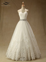 New Sweetheart Lace Floor Length Ball Gown Wedding Dress Beading Flowers Lace Up Bridal Gown Custom