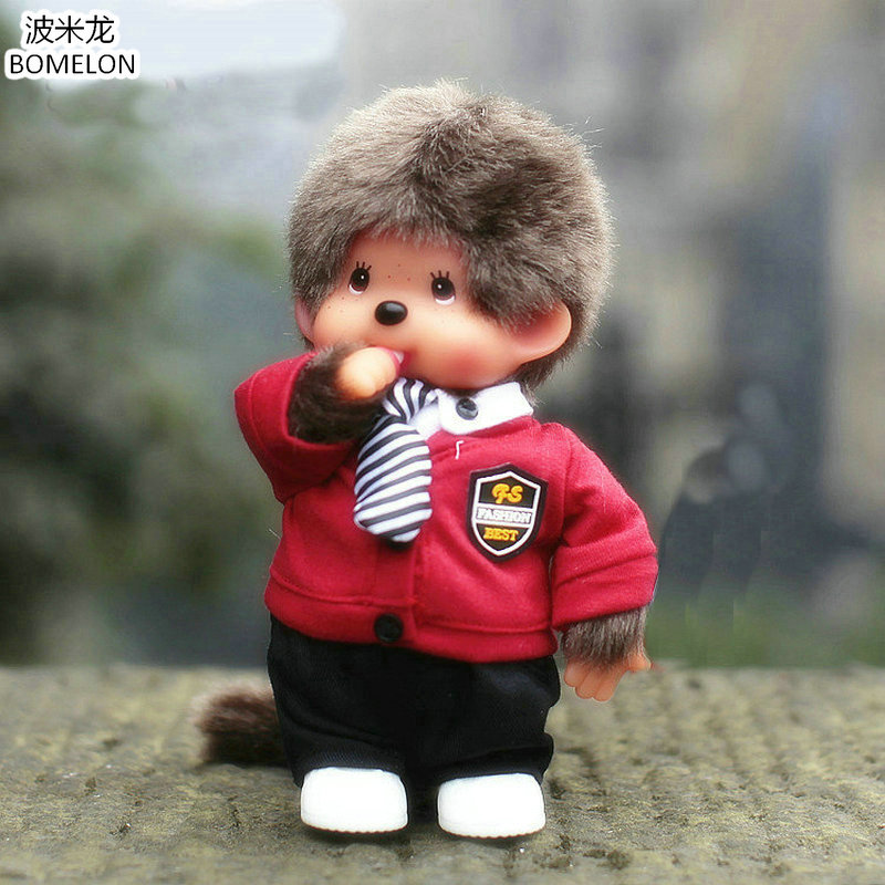 20cm Monchhichi Fashion Boys Dolls Kawaii KIKI Plush Doll stuffed Baby Doll Toys for Children Boys Birthday Christmas Gift 6pcs plants vs zombies plush toys 30cm plush game toy for children birthday gift