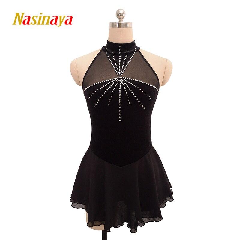 Nasinaya Figure Skating Dress Customized Competition Ice Skating Skirt for Girl Women Kids Patinaje Gymnastics Performance 135