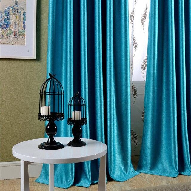 Online Shop Sparkle Blu Tende Oscuranti per Soggiorno Floccato Tende ...