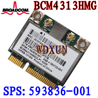 Broadcom 4313 Wifi Card 593836-001 BCM94313HMG2LP1  593836-001 DM1 DM2 DM3 DM4 MINI 110 G72 DV7 BCM4313