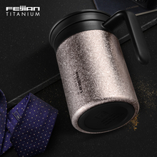 Feijian Titanium thermos cup for tea thermo coffee mug car bottle with handle and strainer delicately packed цена и фото
