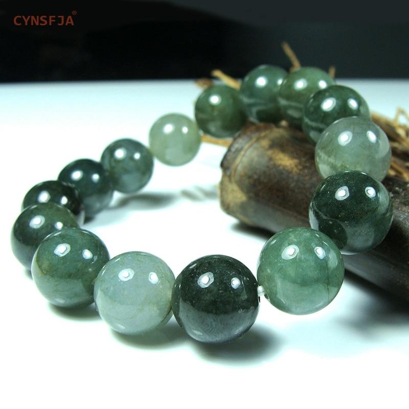 Myanmar Emerald Jade Bracelets Bangles Charm Bracelet Beads Certified Natural A Grade Burmese Jadeite Green High Quality Gifts