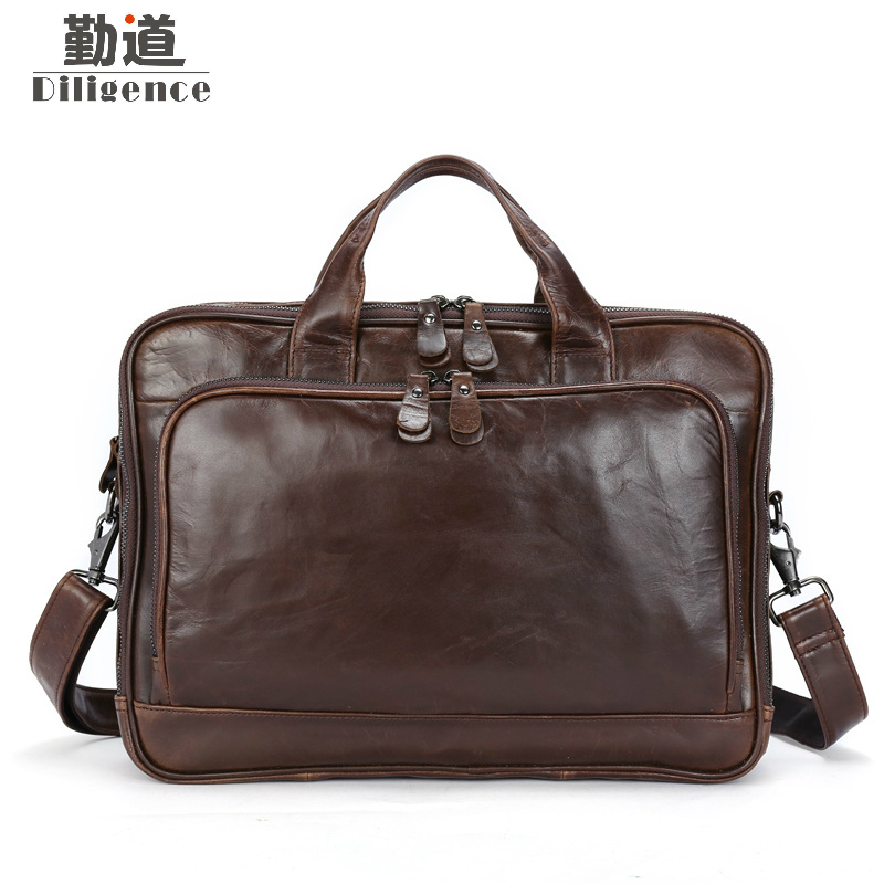 Men Bags Genuine Leather Bag Men Briefcase Handbag Leather Laptop Bag 14 inch Office Work Messenger Shoulder Bags Brand 100% genuine leather men bag brand designed men laptop briefcase business bag cow leather men handbag shoulder bag messenger bag