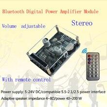 XY P40W بلوتوث 5.0 مكبر كهربائي الصوت مجلس ستيريو مضخم رقمي صغير ستيريو أمبير المسرح المنزلي مع جهاز التحكم عن بعد