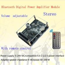 XY P40W Bluetooth 5.0 כוח מגבר אודיו לוח סטריאו דיגיטלי מגבר קטן סטריאו AMP קולנוע ביתי עם שלט רחוק