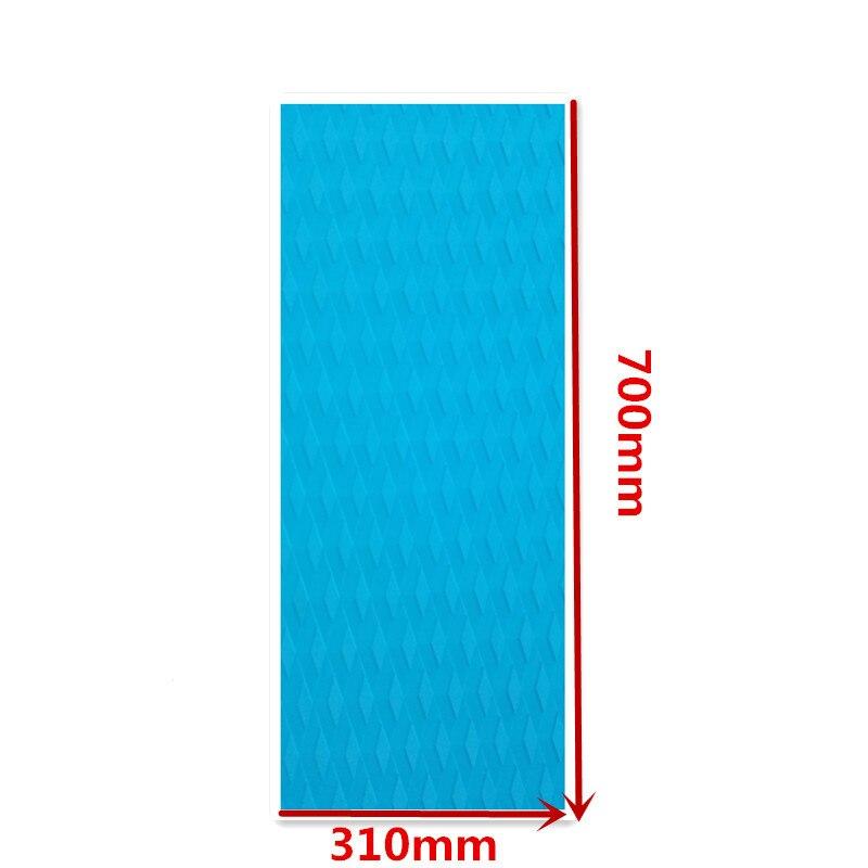 Spor ve Eğlence'ten Sörf'de 700*310*5mm Sörf güverte pad elmas hattı FR EVA Güverte kavrama 3 M yapıştırıcı sup güverte pad sörf title=