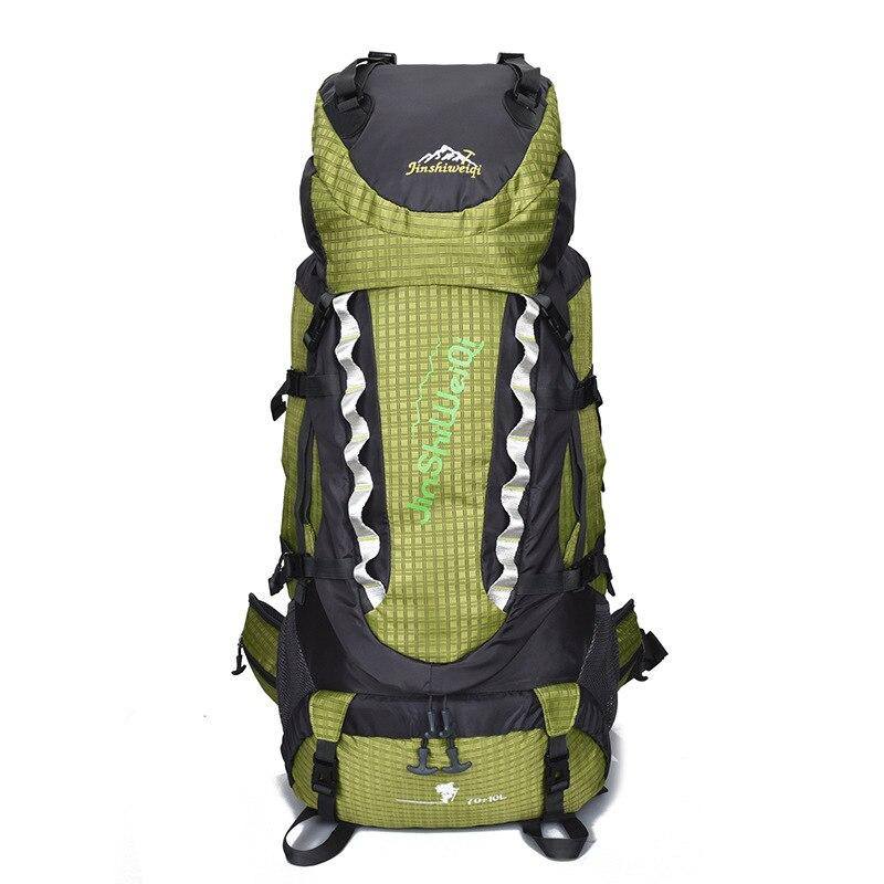 70 + 10L กระเป๋าเป้สะพายหลังกันน้ำ Camping Hiking ถุงกีฬากระเป๋าเดินทางขนาดใหญ่ความจุกระเป๋าเป้สะพายหลังสำหรับปีนเขา sac a dos mochila-ใน กระเป๋าเป้ จาก สัมภาระและกระเป๋า บน   1