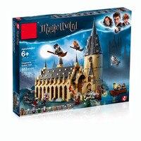 legoing Harry Potter 75954 lele Hogwarts castle Hall 39144 Harry Potter brick children's toys the toys