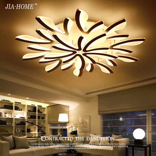 Modern ceiling mount light fixture sitting room with flower Acrylic ...