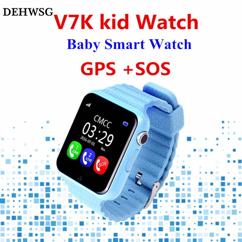 DEHWSG 2017 NEW GPS SmartWatch V7K Smart baby watch with camera SOS Call Location Device Tracker Anti-Lost Monitor PK Q90 Q750 smartch gps smart watch v7k kid waterproof smart baby watch with camera sos call location device tracker anti lost monitor