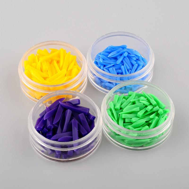 400pcs/lot Disposable Teeth Wedges Plastic Material 4 Colors Dentist Material Dental Tools Dentistry Equipment