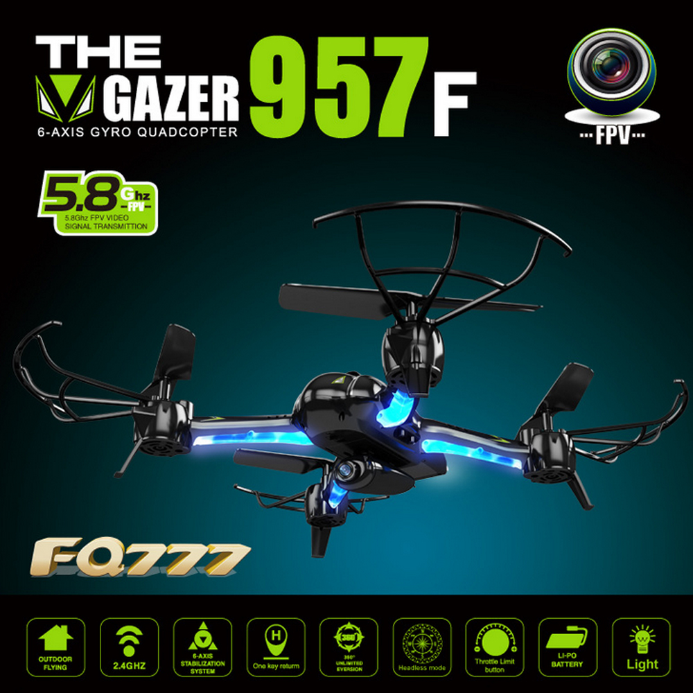 New FQ777 AF957F 5.8G FPV Drone With 2.0MP Camera One Key Return RC Quadcopter FPV Camera Headless Drone Helicopter RC Toys