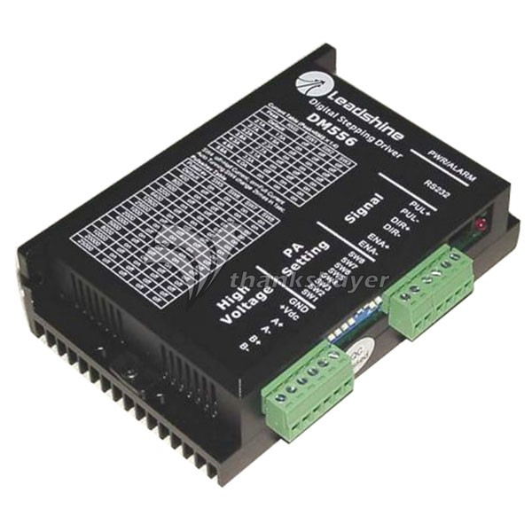 Leadshine DM556 2-phase Digital Stepper Drive work 36-60 VDC 2.1A to 5.6A for Associated products NEMA23 motor step motor drive from famous brand leadshine model dm422c 2 phase digital stepper drive max 40 vdc and 2 2 a quick delivery